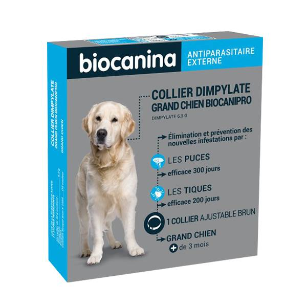 Biocanina Biocanipro Collier Antiparasitaire Grand Chien
