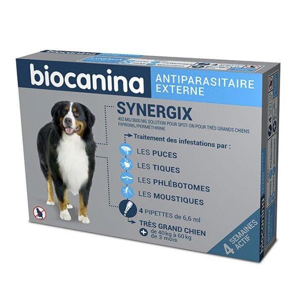 Biocanina Synergix Très Grand Chien 40 à 60kg 4 Pipettes