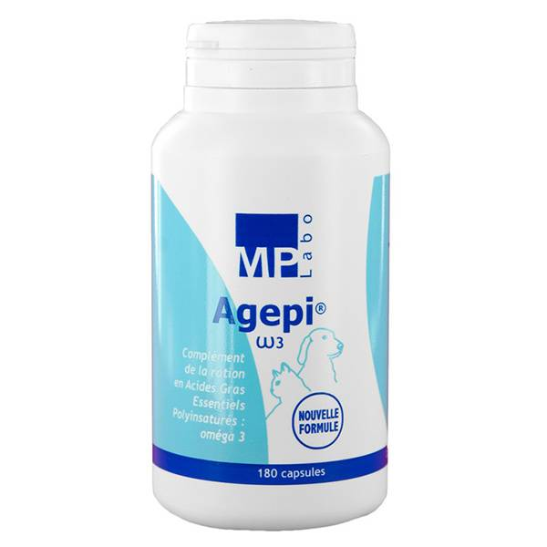 Agepi Omega3 Supplement en Acide Gras Essentiel Chien Chat 180 capsules