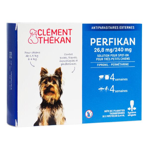 Clément Thékan Perfikan Antiparasitaires Chiens de 1,5 à 4kg 4 pipettes