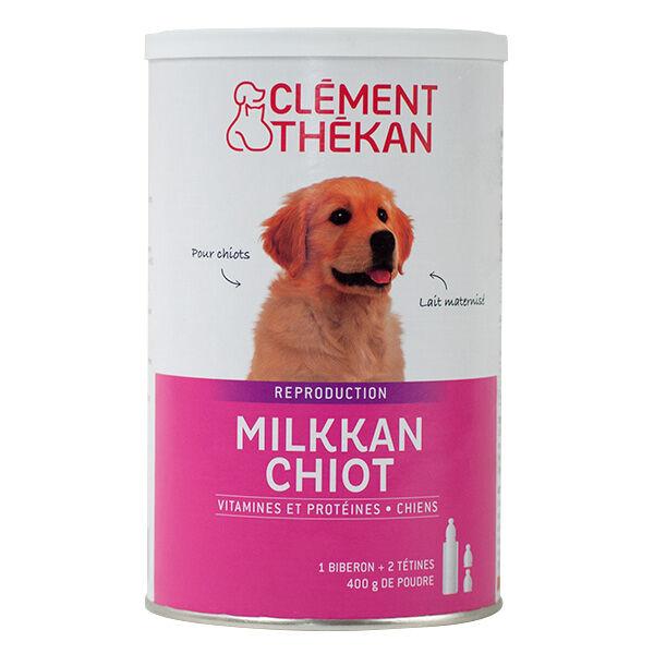 Clément Thékan Milkkan Chien Lait Maternisé 400g + Biberon et Tétines