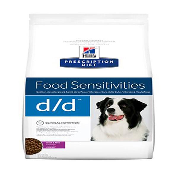 Hill's Prescription Diet Canine D/D Food Sensitivities Canard et Riz Sac de 2kg de Croquettes