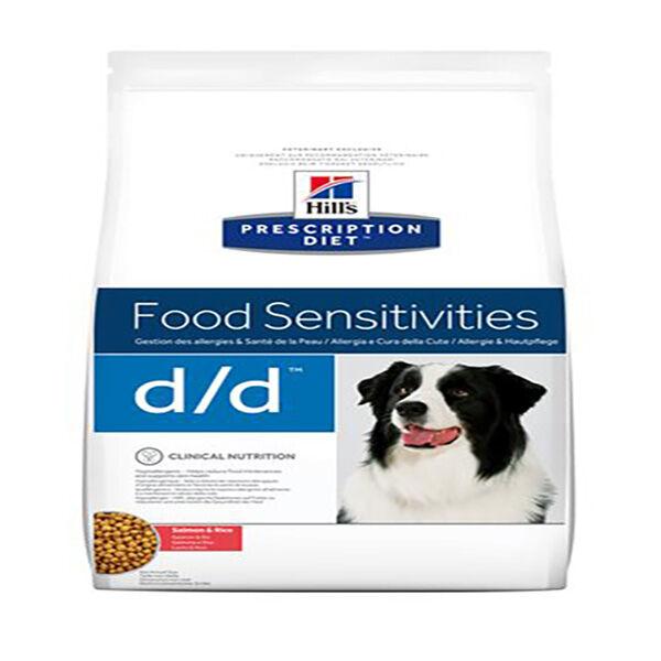 Hill's Prescription Diet Canine D/D Food Sensistivities Croquettes Saumon Riz 12kg