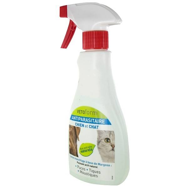 Vetoform Antiparasitaire Chien et Chat Spray 250ml