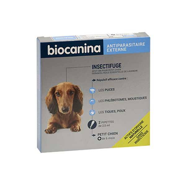 Biocanina Insectifuge Naturel Spot-On Petit Chien 2 pipettes