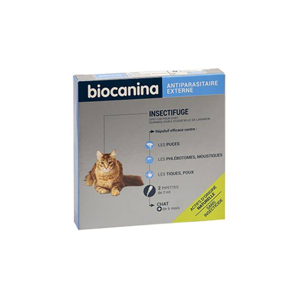 Biocanina Insectifuge Naturel Spot-On Chat 2 pipettes