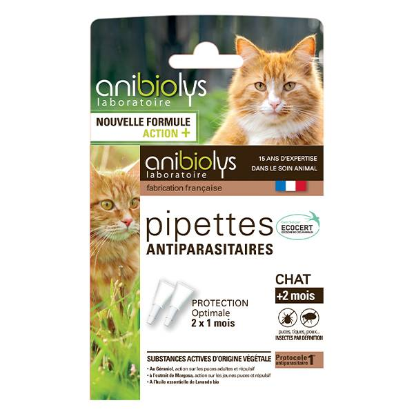 Anibiolys Anybiolys Chats Pipettes Antiparasitaires 2 unités