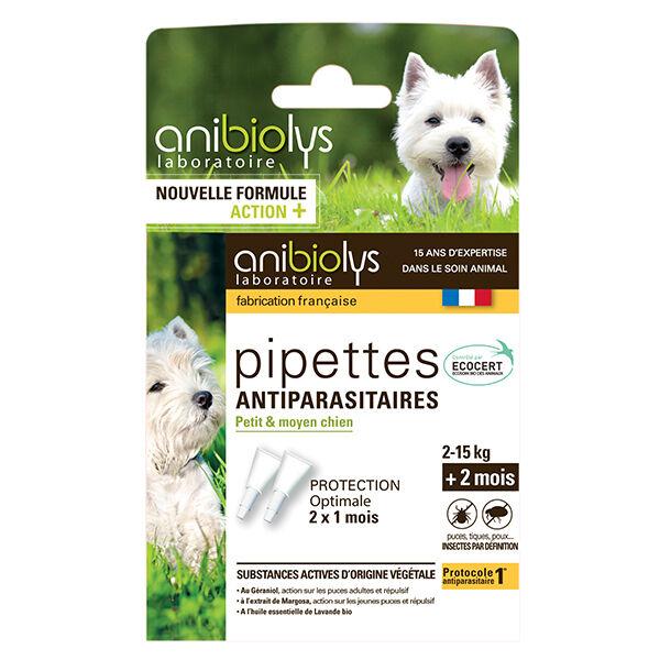 Anibiolys Chiens Pipettes Antiparasitaires Petit Moyen Race 2 unités
