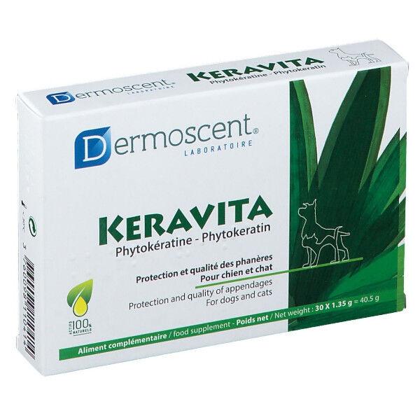 Dermoscent Keravita Complément Alimentaire Pelage Chien Chat 30 comprimés