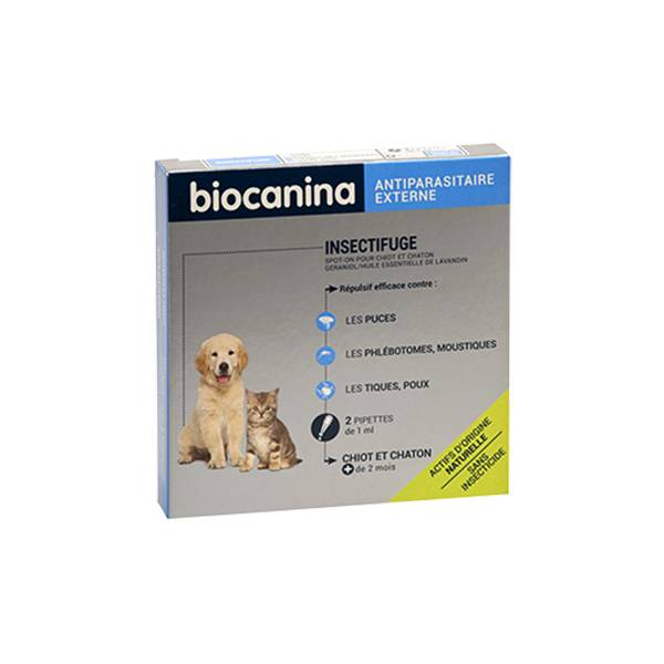 Biocanina Insectifuge Naturel Spot-On Chiot et Chaton 2 pipettes
