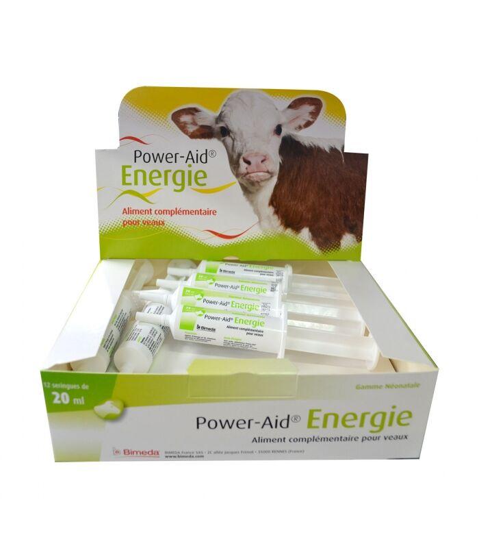 Bimeda power-aid energie stimulant energetique pour veau pate orale seringue 20ml boite de 12