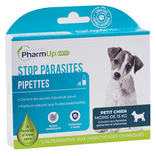PharmUp Véto Stop Parasites Petit Chien Moins de 15kg 6 pipettes