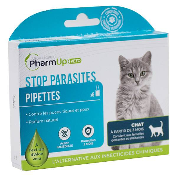 PharmUp Véto Stop Parasites Chat 6 pipettes