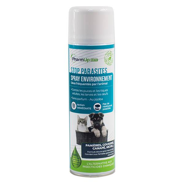 PharmUp Véto Stop Parasites Spray Environnement 400ml