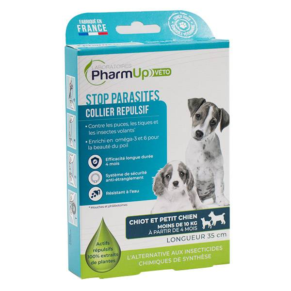 PharmUp Véto Stop Parasites Collier Chien 10 à 25kg