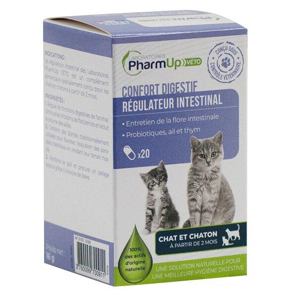 PharmUp Véto Régulateur Intestinal Chat et Chaton 20 gélules