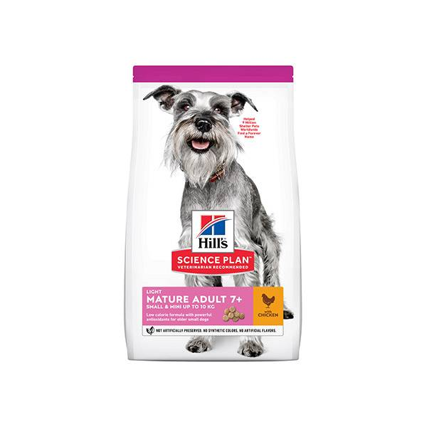 170008 Hill's Science Plan Canine Mature Adult 7+ Light Small & Mini Poulet 2,5kg