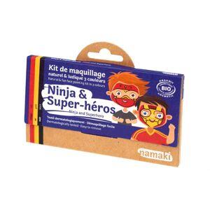 Namaki Kit de Maquillage Bio Enfant Ninja et Super-Héros 3 couleurs - Publicité