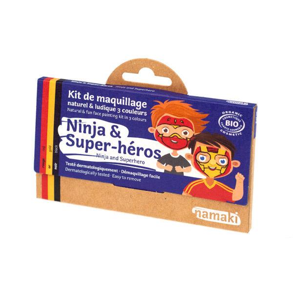Namaki Kit de Maquillage Bio Enfant Ninja et Super-Héros 3 couleurs
