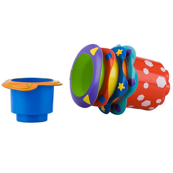 Nuby Jouet de Bain 5 Pots Empilables