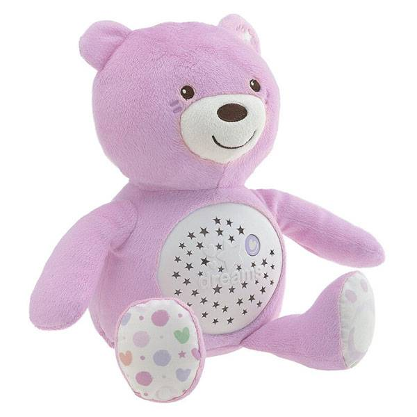 Chicco First Dreams Ourson Projecteur Baby Bear Rose