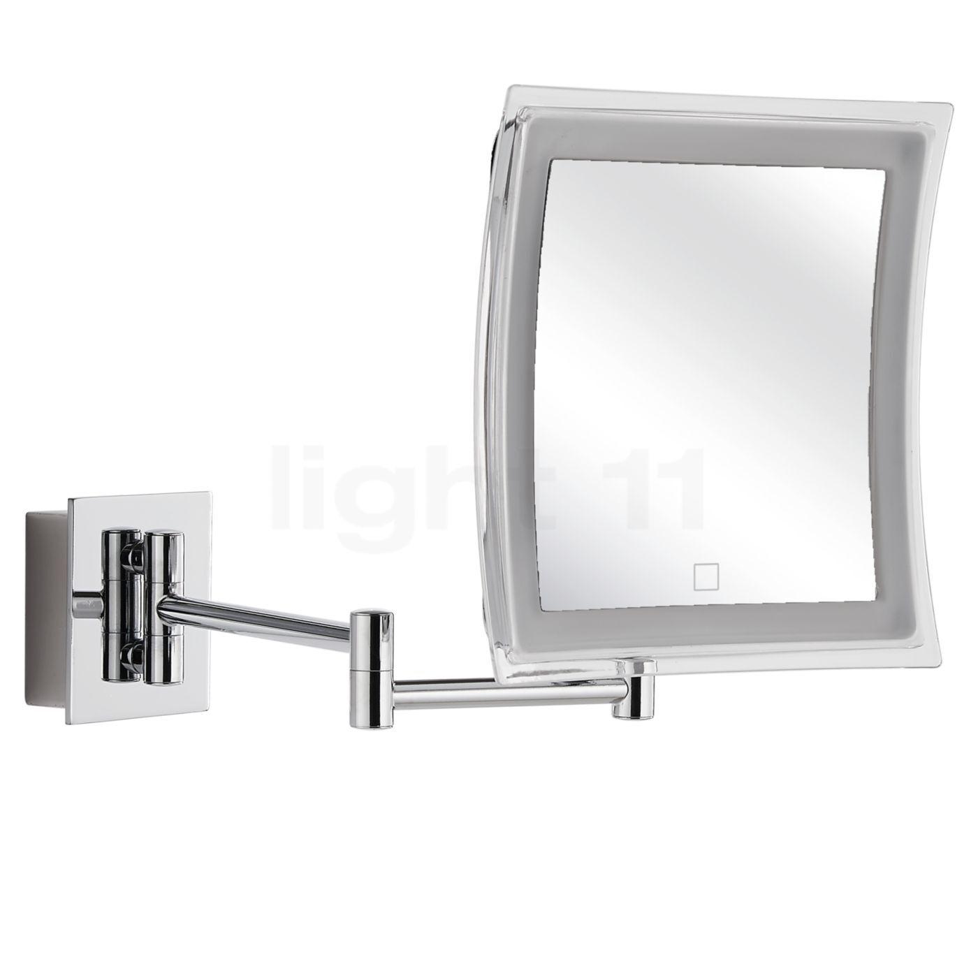 Decor Walther BS 84 Touch Miroir de maquillage mural LED, chrome brillant