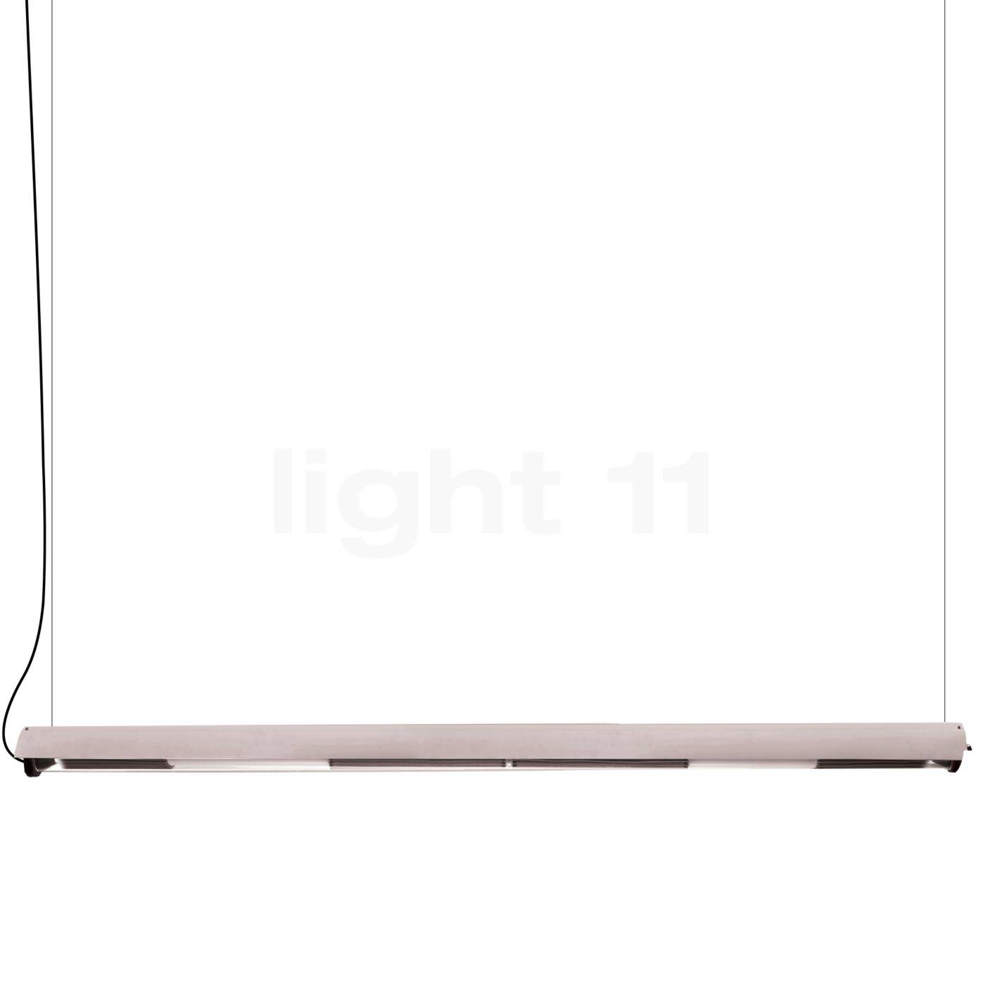 DCW In The Tube 360° - 1600 Suspension LED avec FLAP, volet blanc/maille argentée