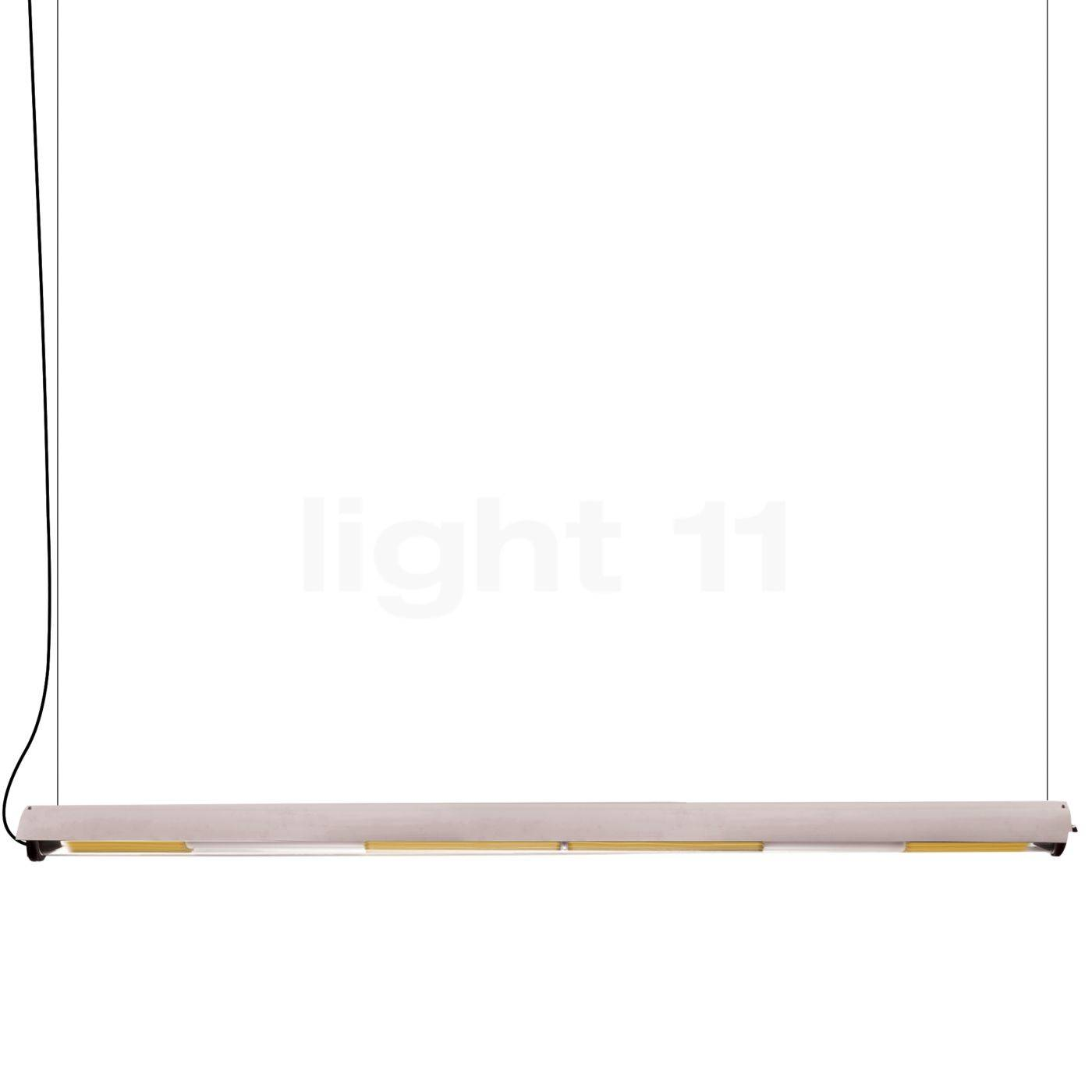 DCW In The Tube 360° - 1600 Suspension LED avec FLAP, volet blanc/maille dorée