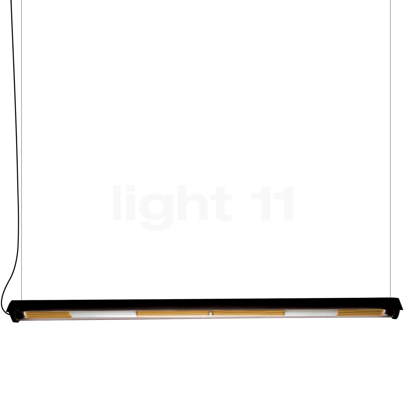 DCW In The Tube 360° - 1600 Suspension LED avec FLAP, volet noir/maille dorée