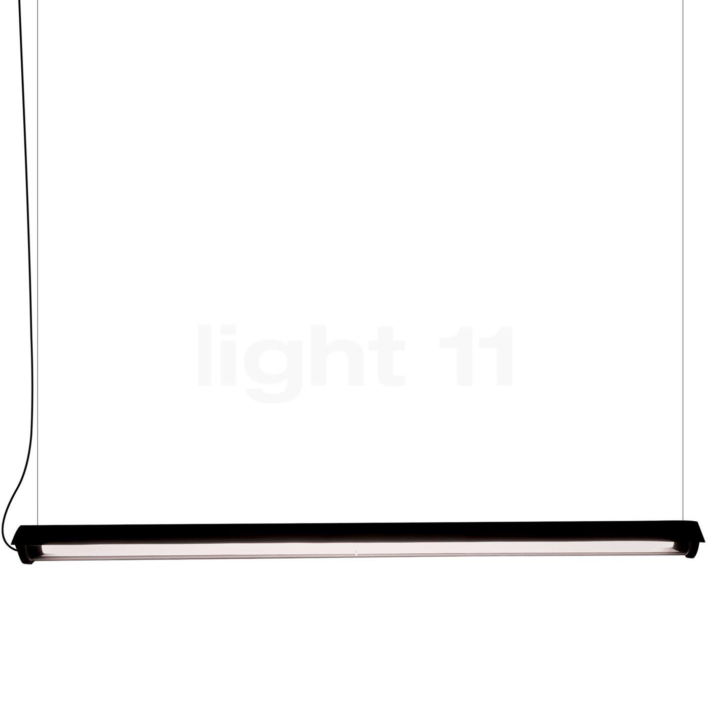 DCW In The Tube 360° - 1600 Suspension LED avec FLAP, volet noir/sans maille