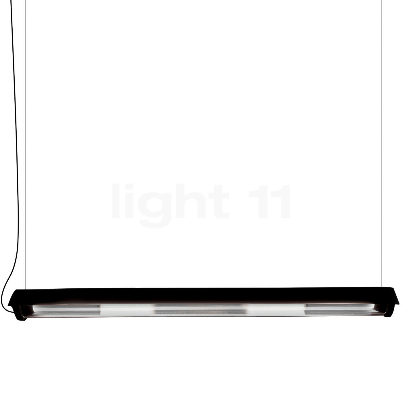 DCW In The Tube 360° - 1600 Suspension LED avec wing, ailette noire/maille argentée