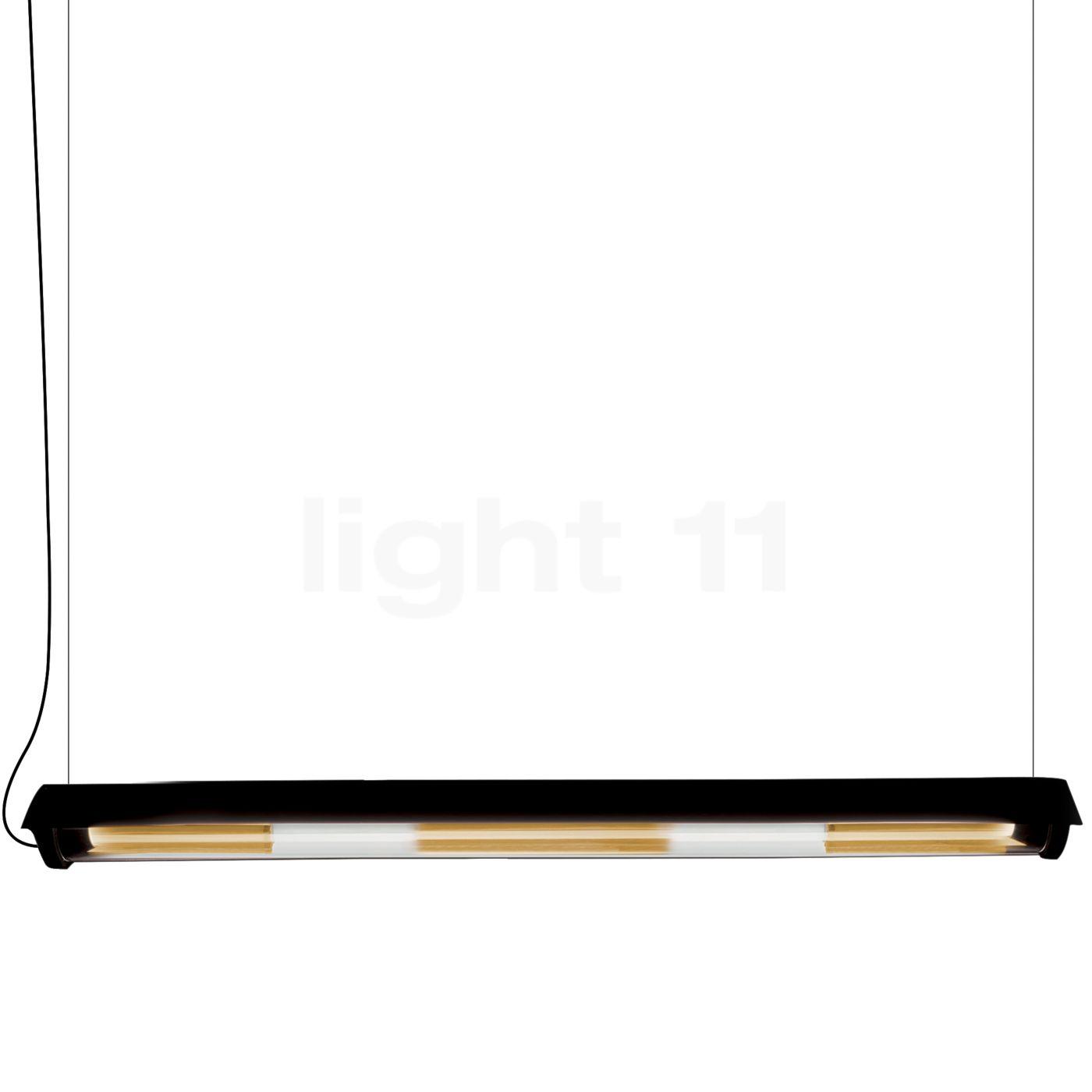 DCW In The Tube 360° - 1600 Suspension LED avec wing, ailette noire/maille dorée
