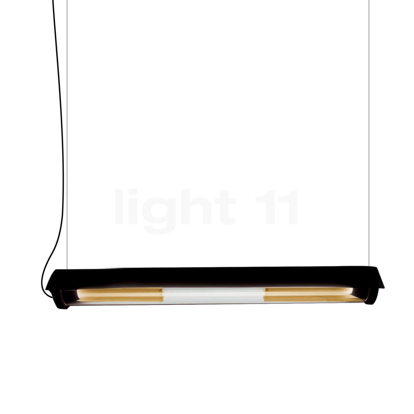 DCW In The Tube 360° - 700 Suspension LED avec WING, ailette noire/maille dorée
