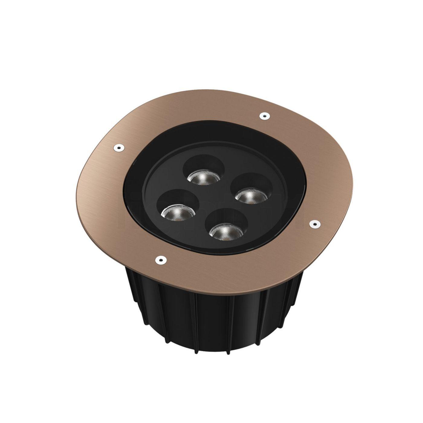 Flos A-Round 240 LED, bronze brossé, angle de projection 10°