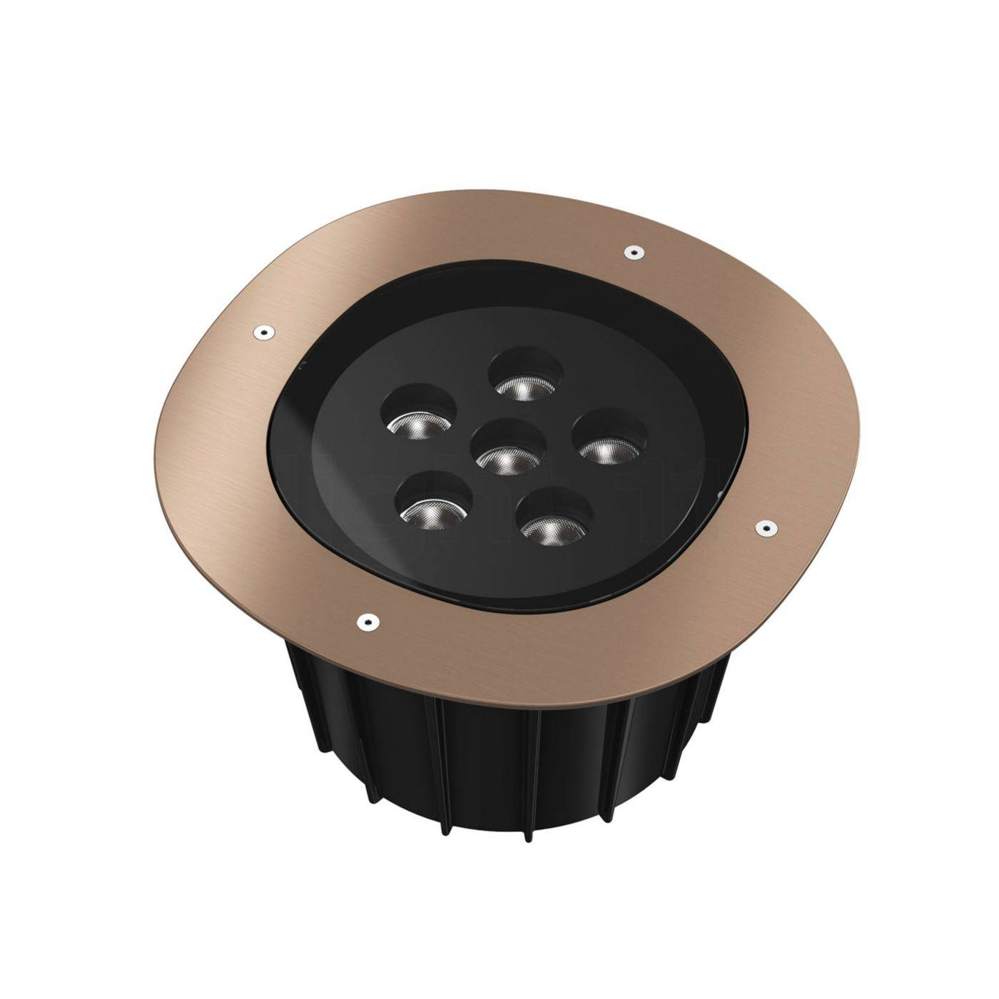 Flos A-Round 315 LED, bronze brossé, angle de projection 10°