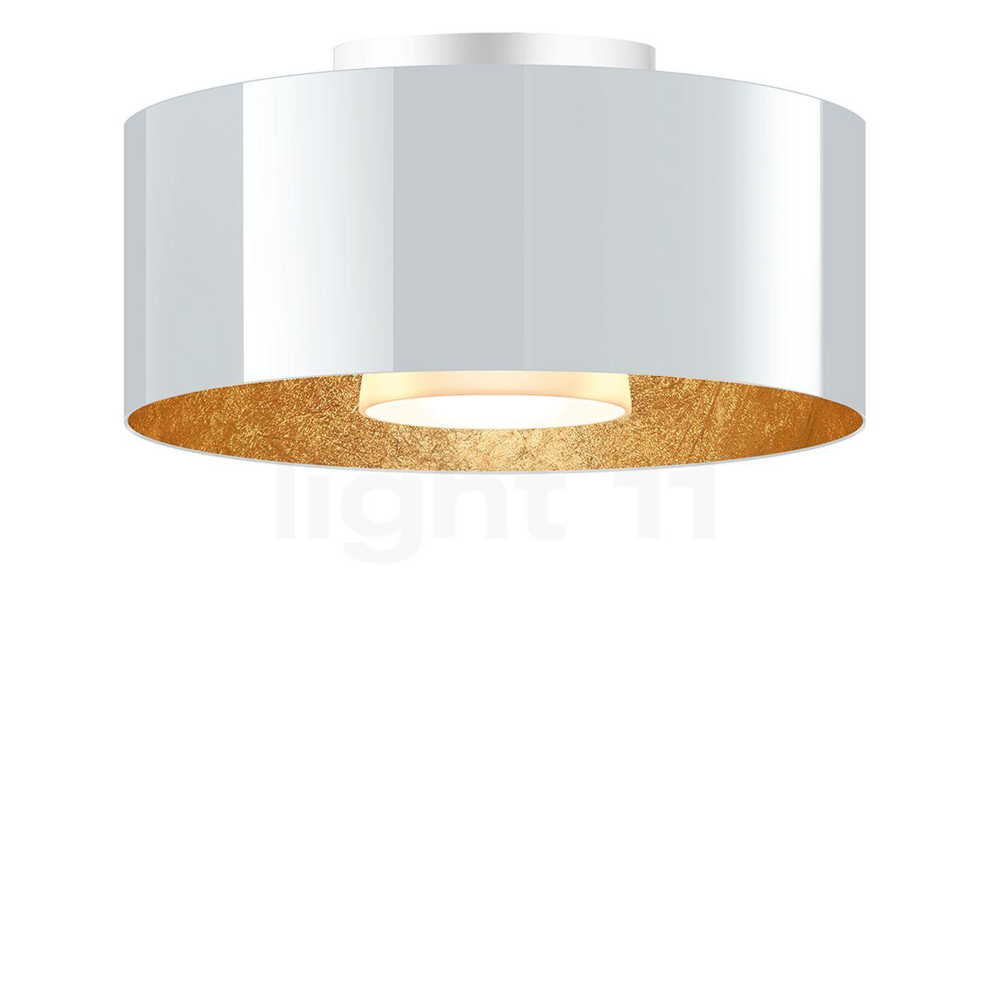 Bruck Cantara Plafonnier LED - ø30 cm, blanc/doré , Vente d'entrepôt, neuf, emballage d'origine