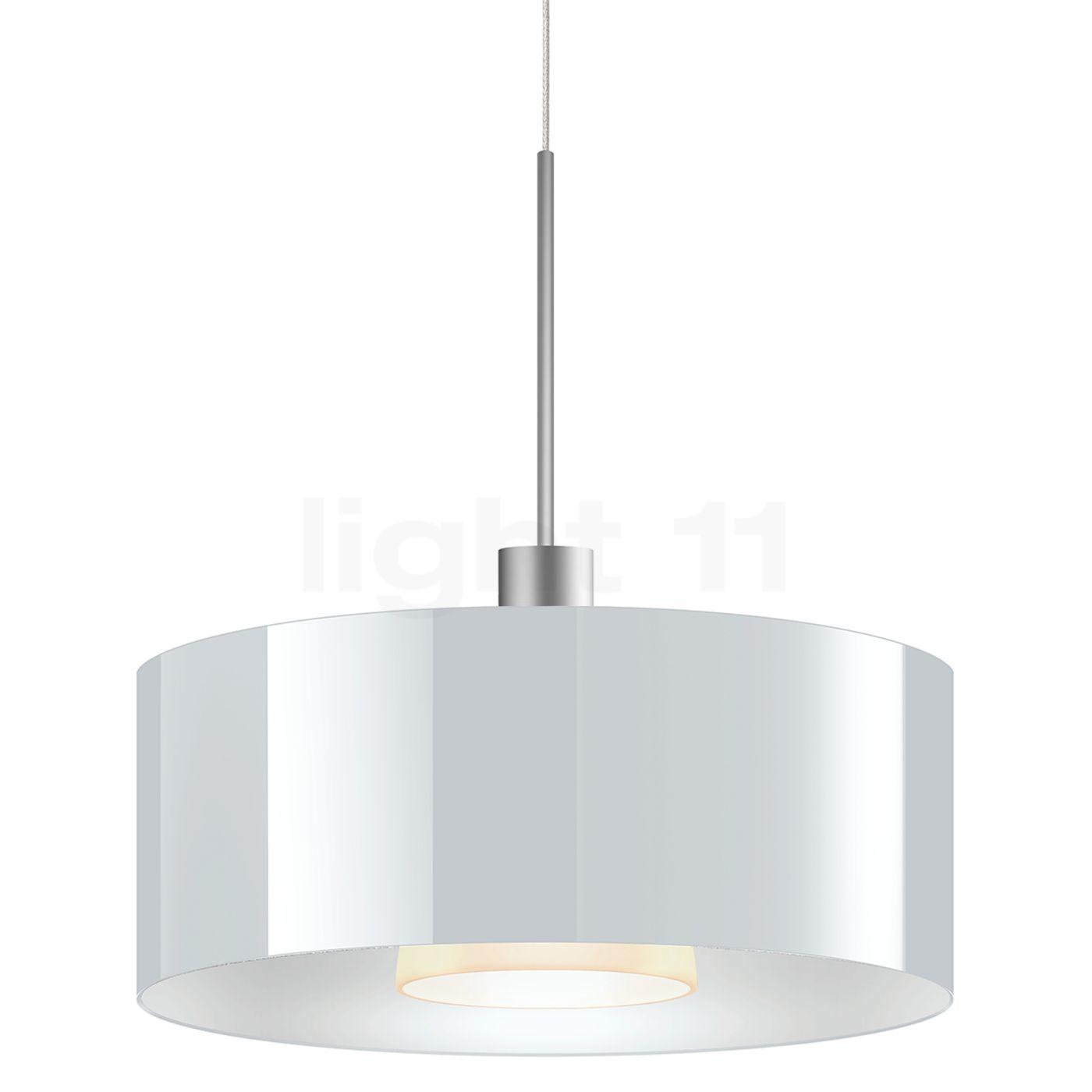Bruck Cantara Suspension LED basse tension - ø30 cm, chrome mat, verre blanc , Vente d'entrepôt, neuf, emballage d'origine