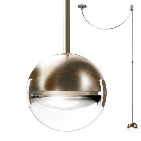 Cini&Nils Convivio Suspension LED, nickel avec lentille transparente