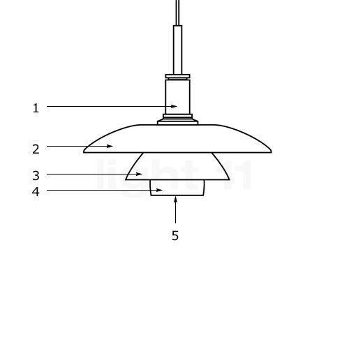 Louis Poulsen Pièces détachées pour Suspension PH 4½-4, pièce n°5