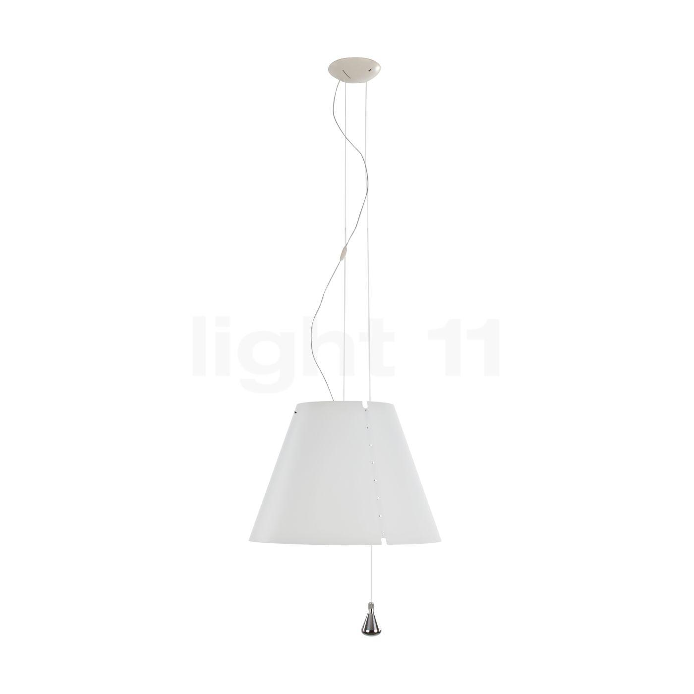Luceplan Costanza Sospensione LED à coulisse, blanc