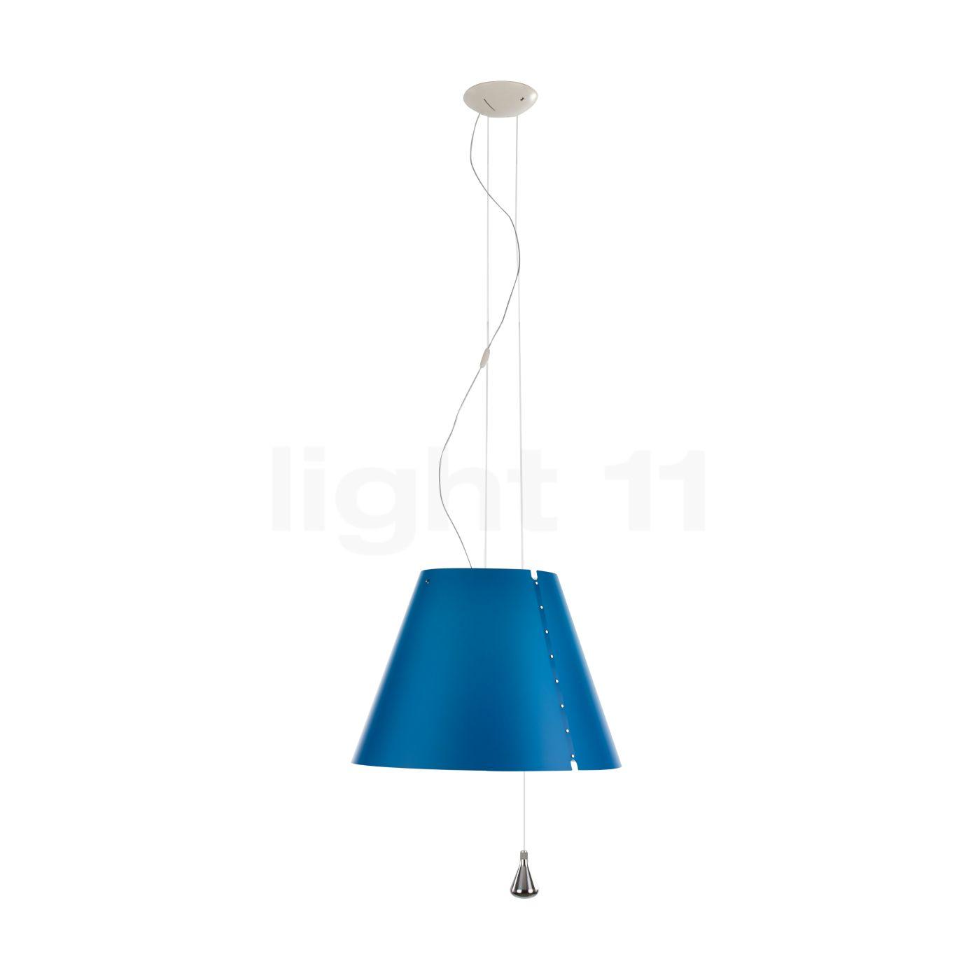 Luceplan Costanza Sospensione LED à coulisse, bleu pétrole