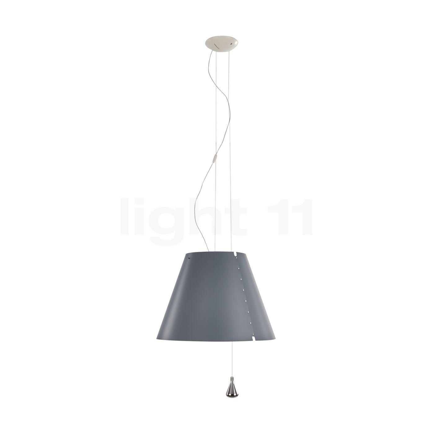 Luceplan Costanza Sospensione LED à coulisse, gris béton