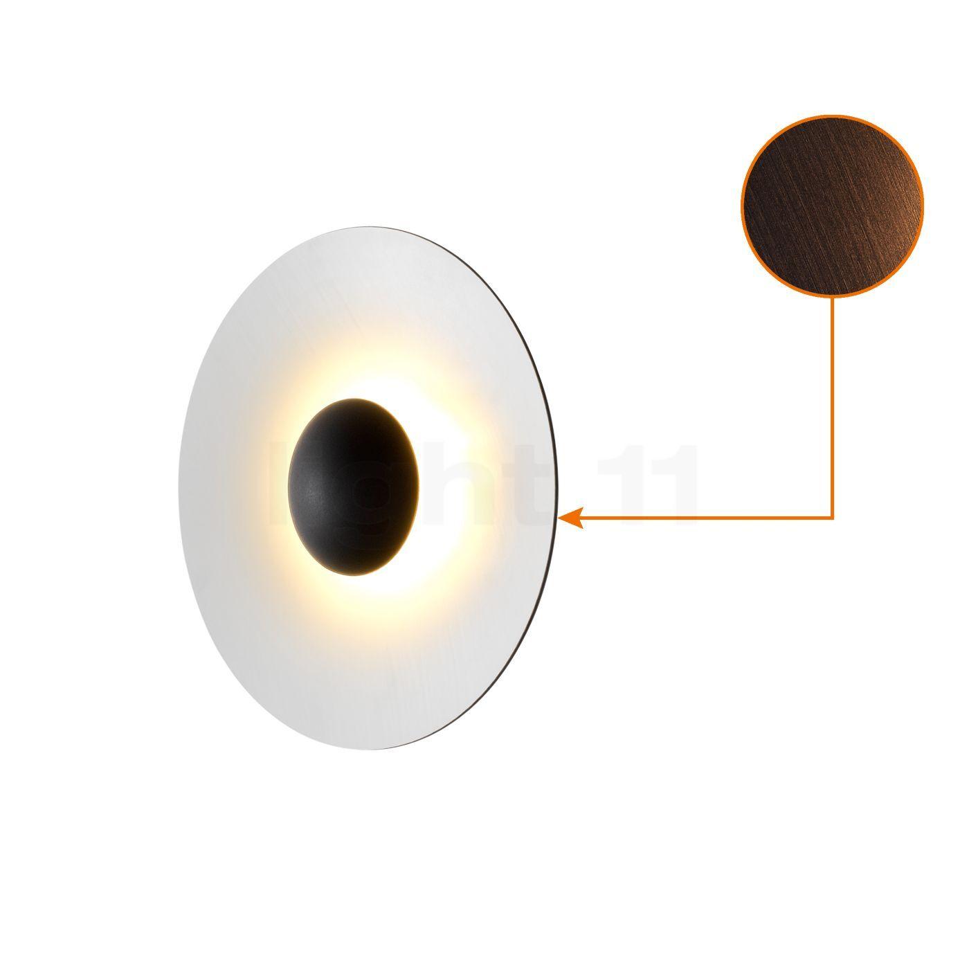 Marset Ginger 32 Applique/Plafonnier LED, wenge/blanc