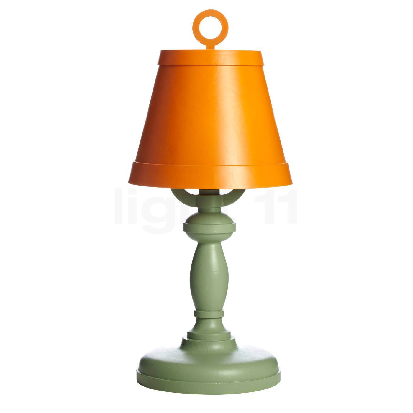 Moooi Paper Lampe de table, orange/vert olive