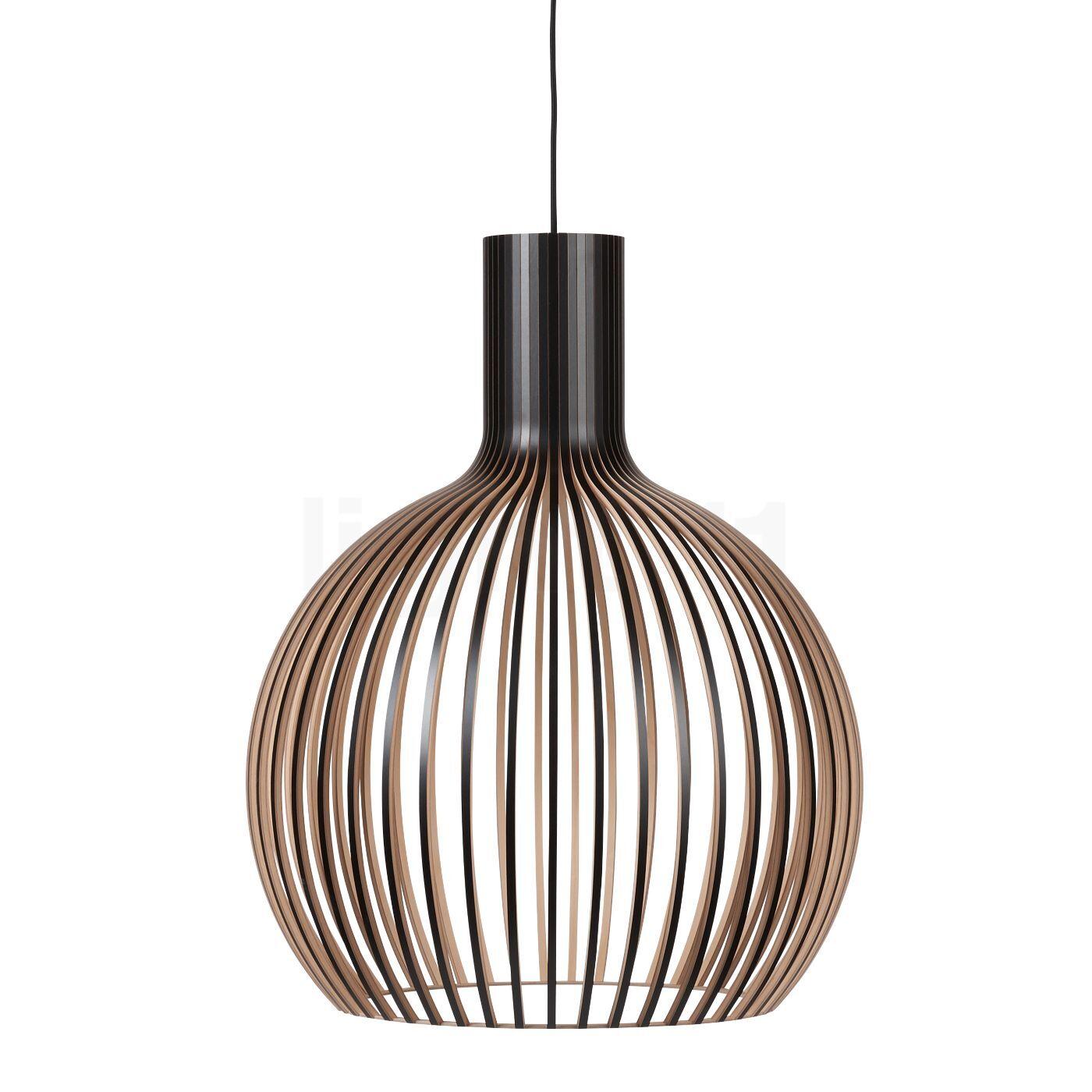 Secto Design Octo 4240 Suspension, noir, stratifié/câble textile noir