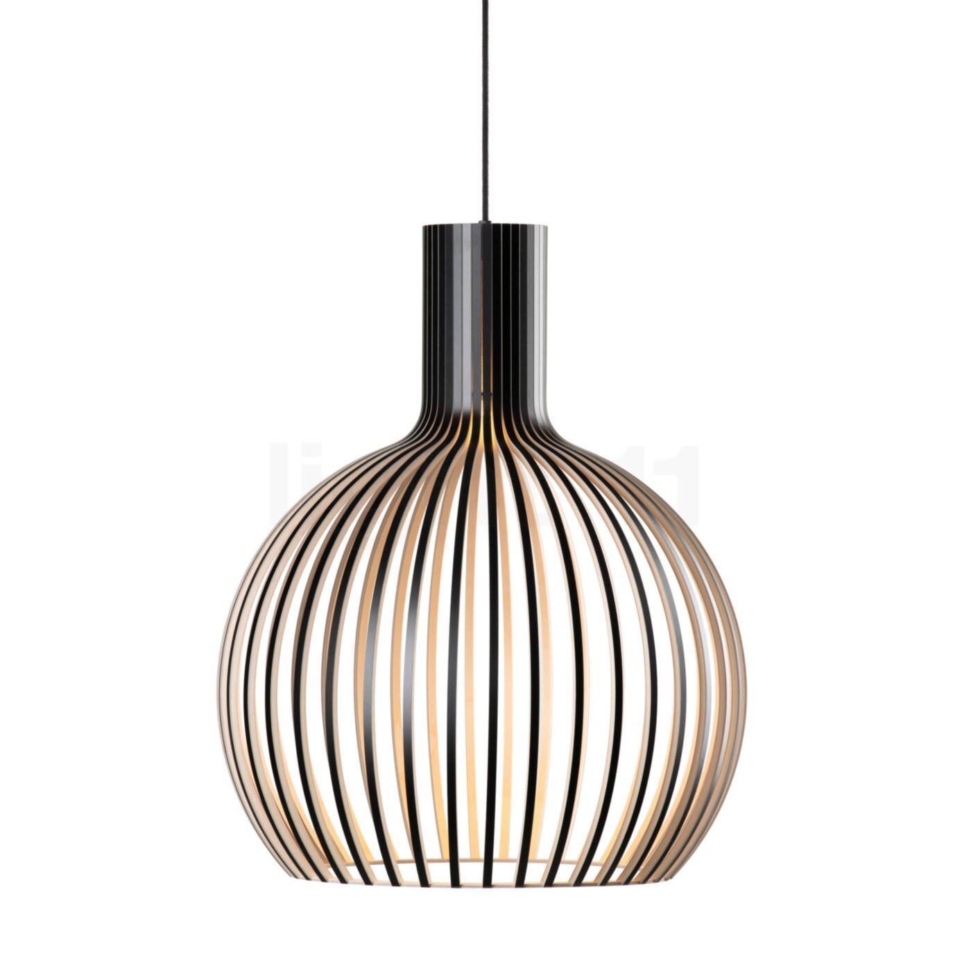 Secto Design Octo 4241 Suspension, noir, stratifié/câble textile noir