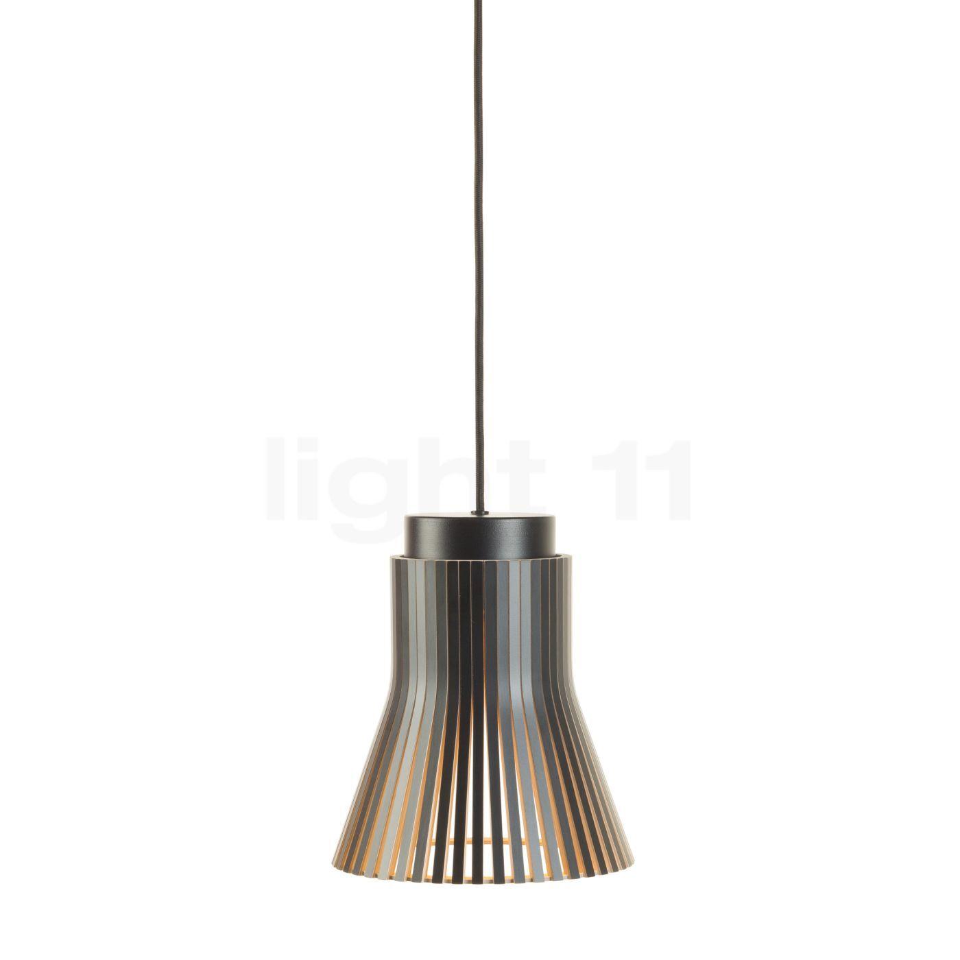 Secto Design Petite 4600 Suspension, noir, stratifié/câble textile noir