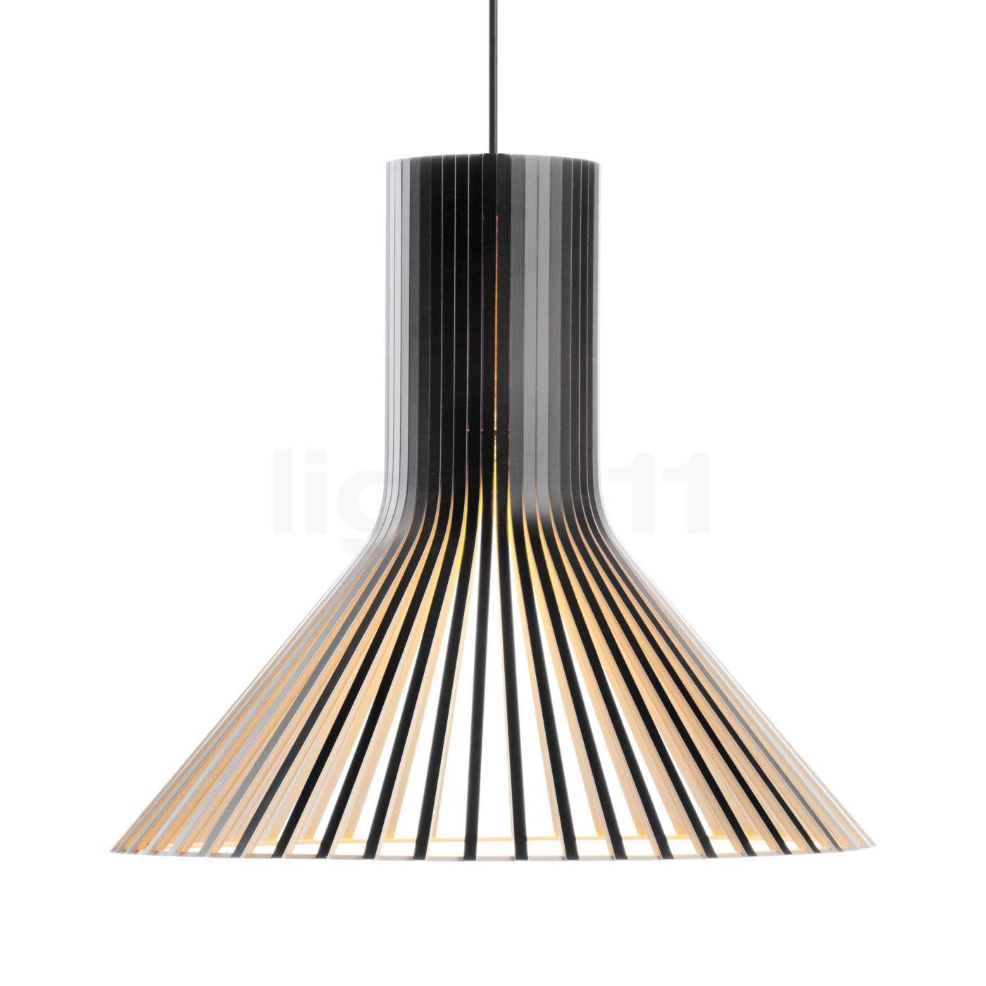 Secto Design Puncto 4203 Suspension, noir, stratifié/câble textile noir