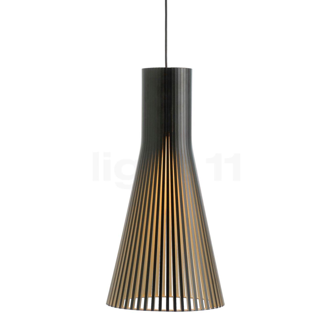 Secto Design Secto 4200 Suspension, noir, stratifié/câble textile noir
