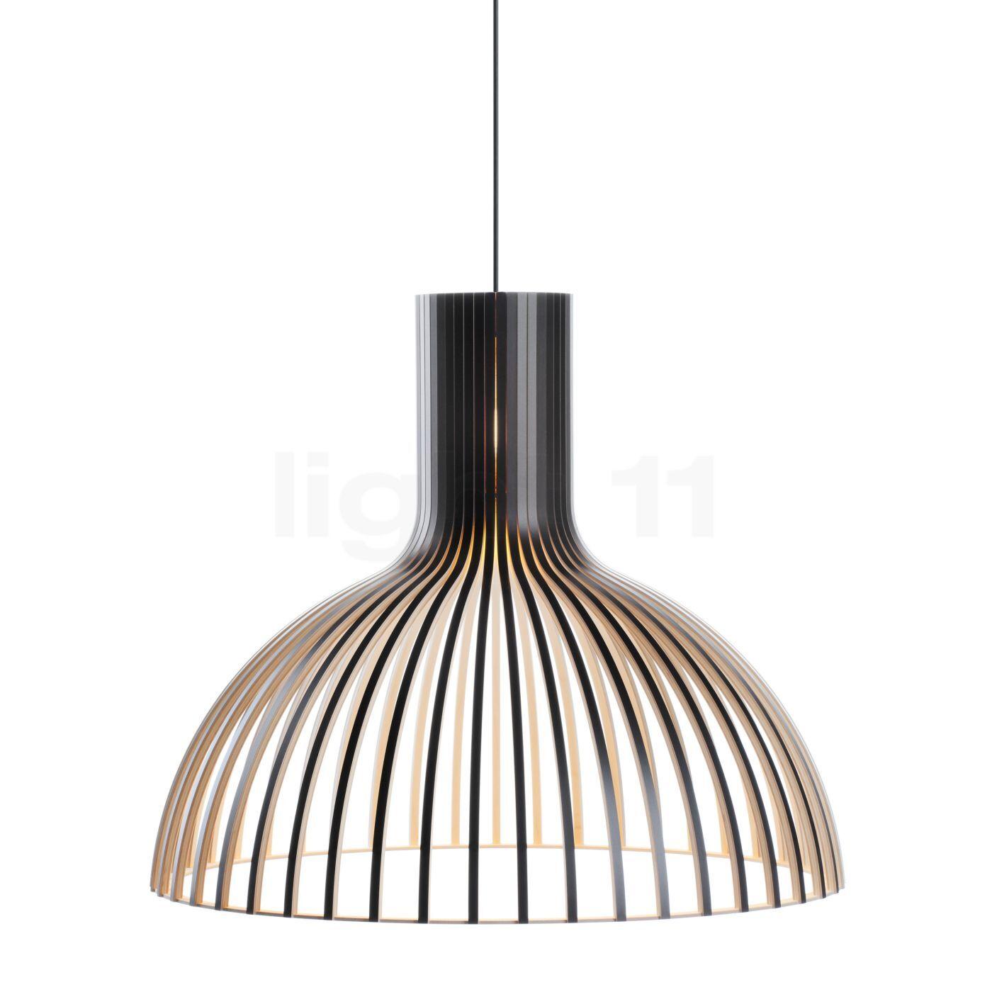 Secto Design Victo 4250 Suspension, noir, stratifié/câble textile noir